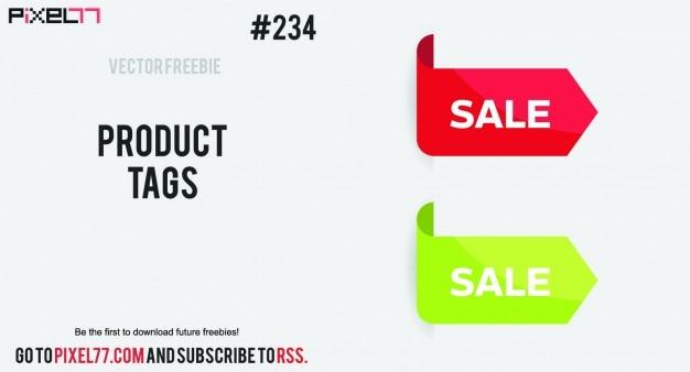 Sale arrows tags