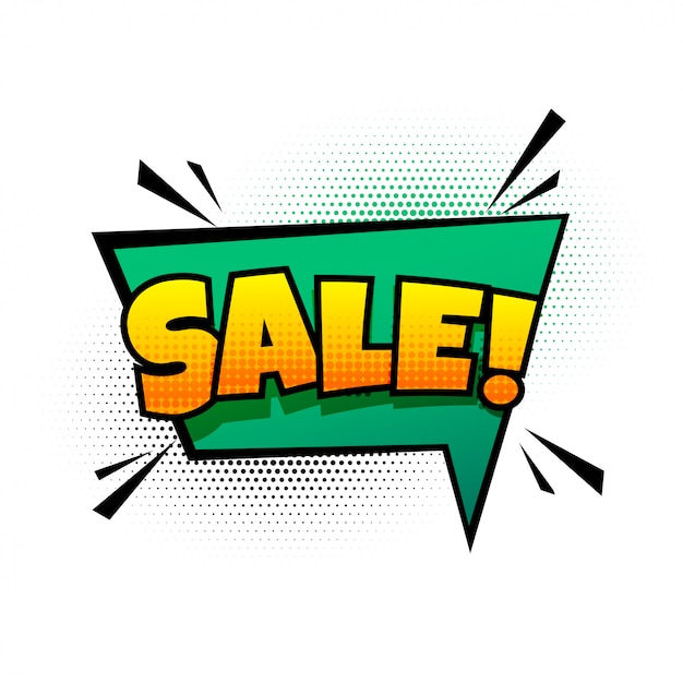 Sale background in comic chat bubble style Free Vector