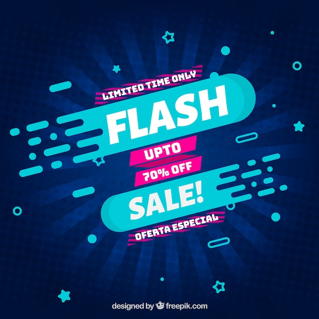 Sale background in flat style Free Vector