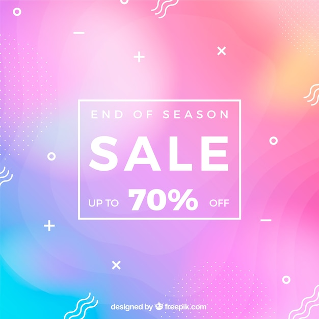 Sale background in gradient style