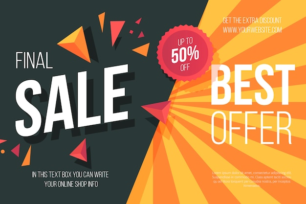 Sale Background Template Free Vector
