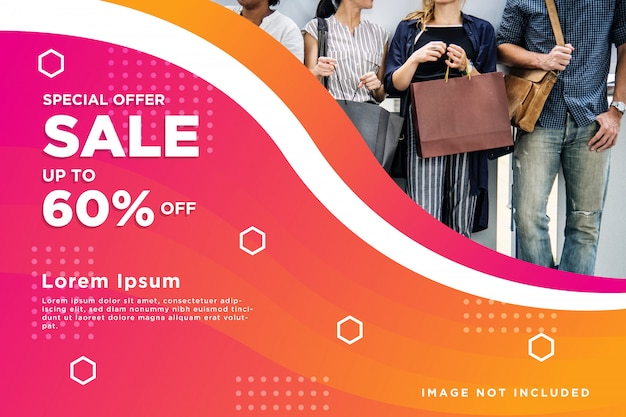 Sale banner abstract background Premium Vector