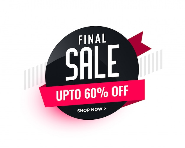 Sale banner badge for your business Free Vector
