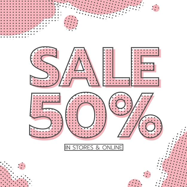 Sale banner online Premium Vector