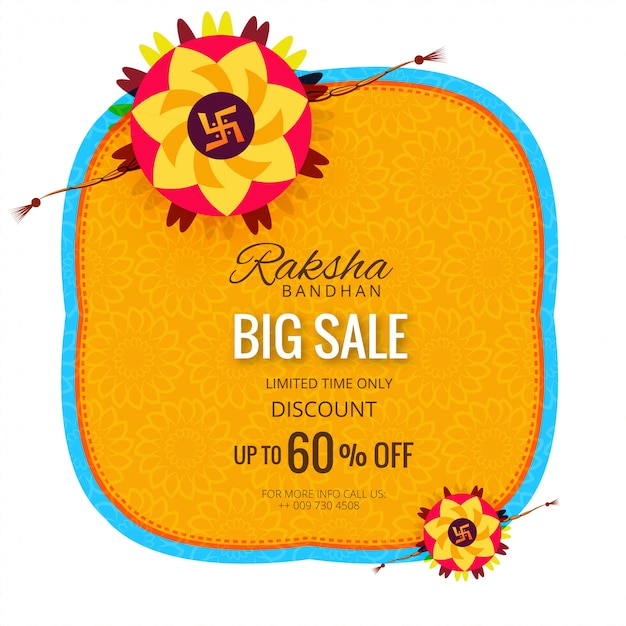 Sale banner or poster for indian festival Premium Vector