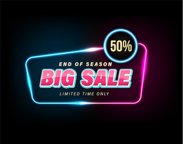 Sale banner for promotion discount advertising element. Premium Vector