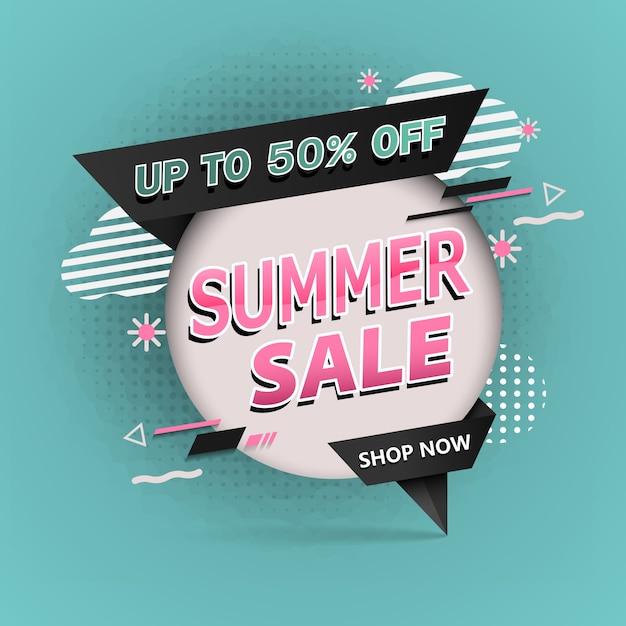 Sale banner of summer sale up Premium Vector