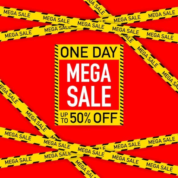 Sale banner template design, big sale special offer. vector stock illustration Premium Vector