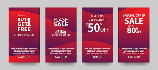 Sale banner template design, end of season special offer Premium Vector