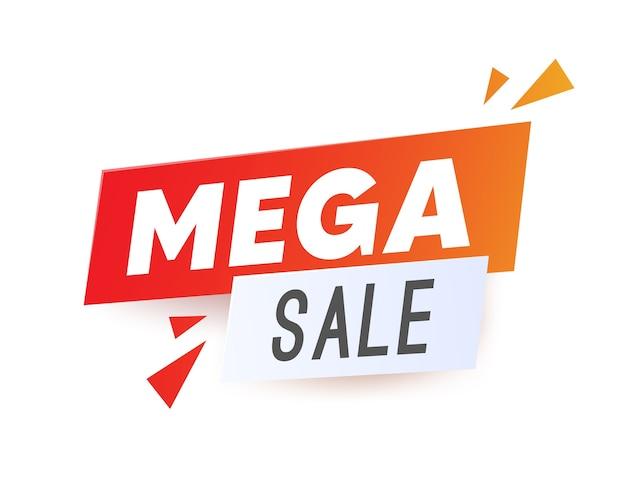 Sale banner template design, super sale, end of season special offer banner Premium Vector