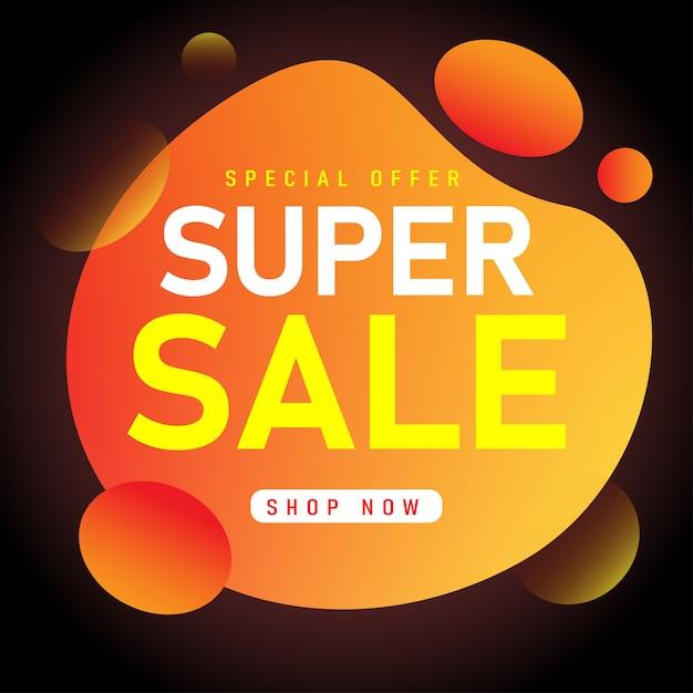 Sale banner template design, super sale special offer. Premium Vector