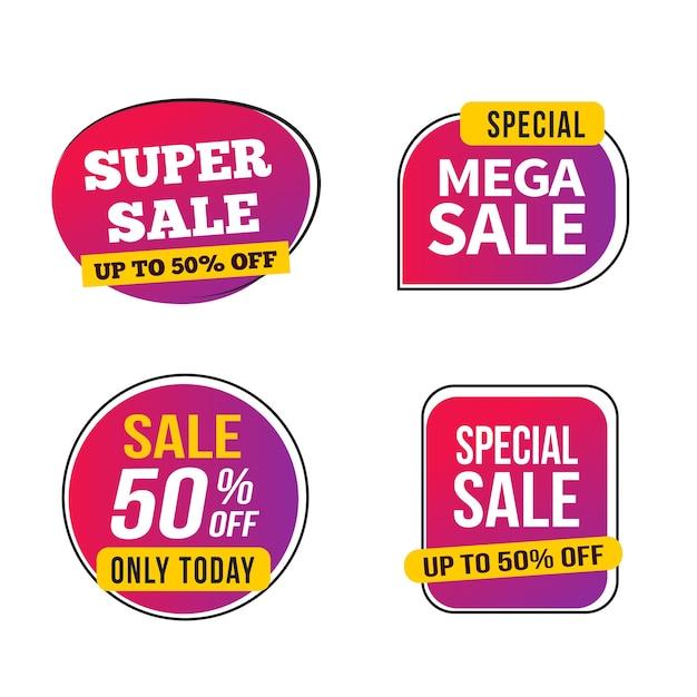 Sale banner template design, vector illustration. Premium Vector