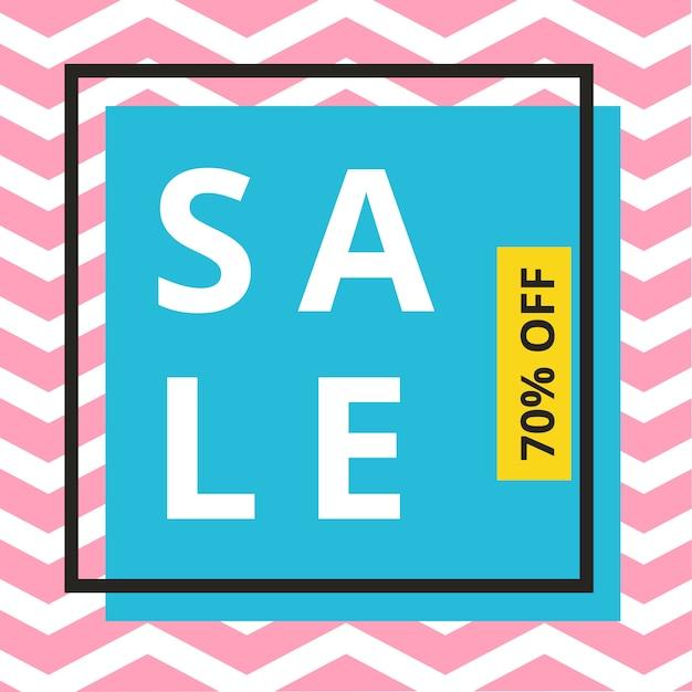Sale banner template design Premium Vector