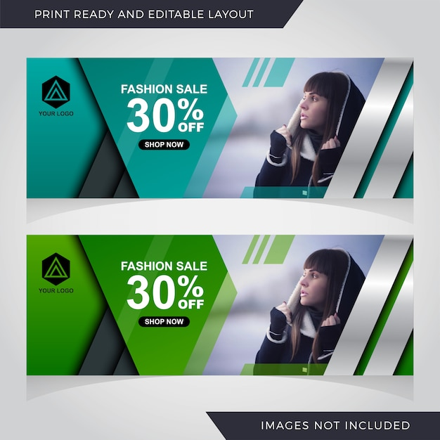 Sale banner template design Premium Vector