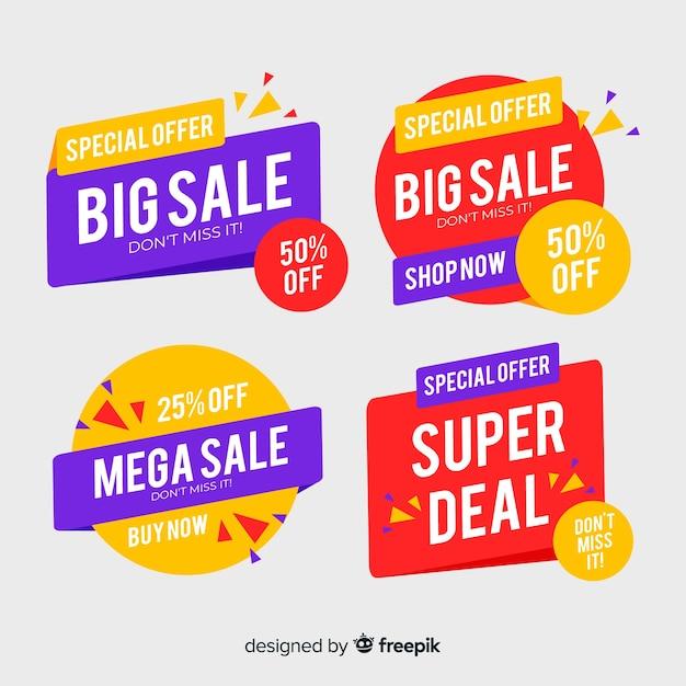 Sale banner template, mega deal discount offer Free Vector