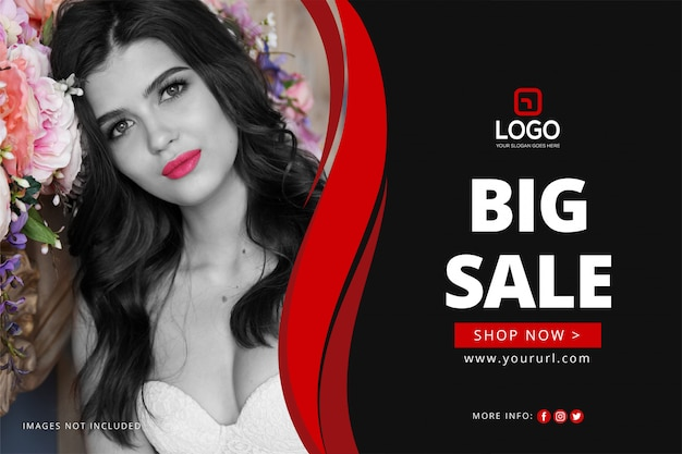 Sale banner template Free Vector