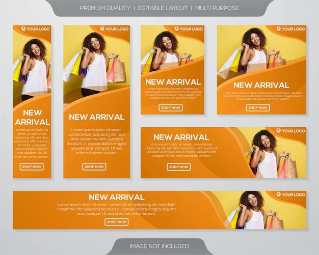 Sale banner template Premium Vector