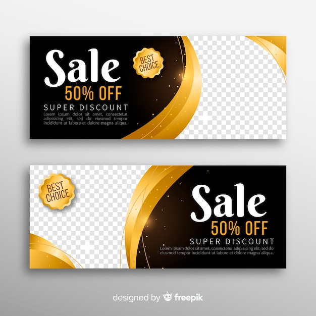 Sale banner with special discount Free Vector