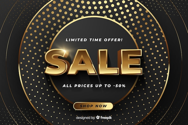 Sale banner with special offer Free Vector