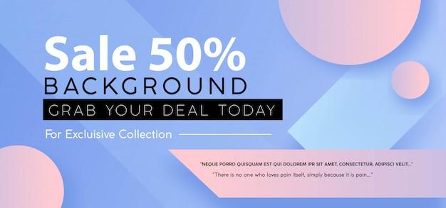 Sale banner Premium Vector