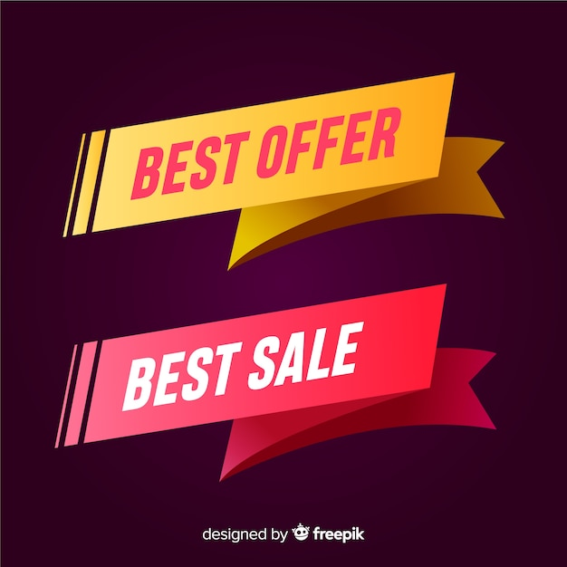 Sale banner Free Vector