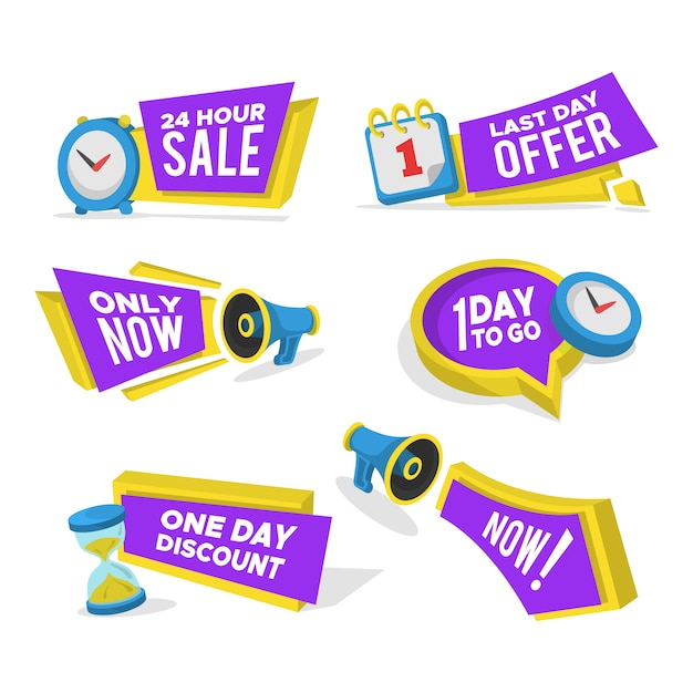 Sale banners set Free Vector