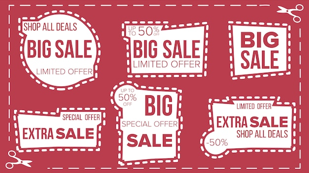 Sale banners set Premium Vector