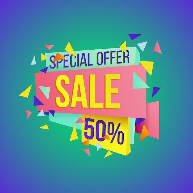 Распродажа с большими финальными скидками и отличными предложениями баннер шаблон Premium векторы