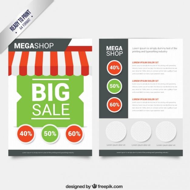sale brochure vector free download