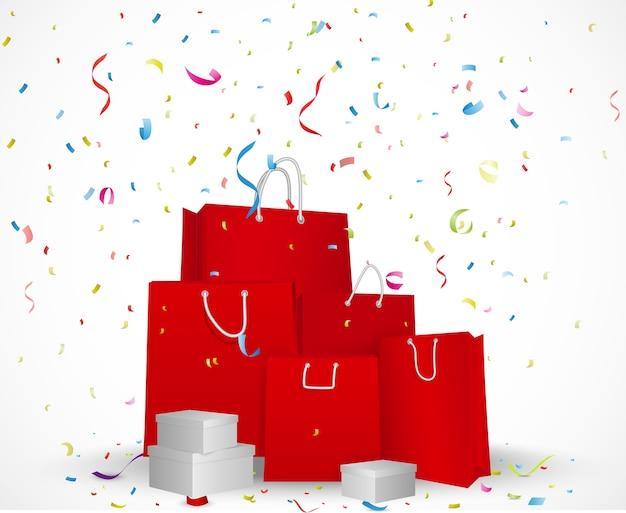 Sale celebration background concept Premium Vector