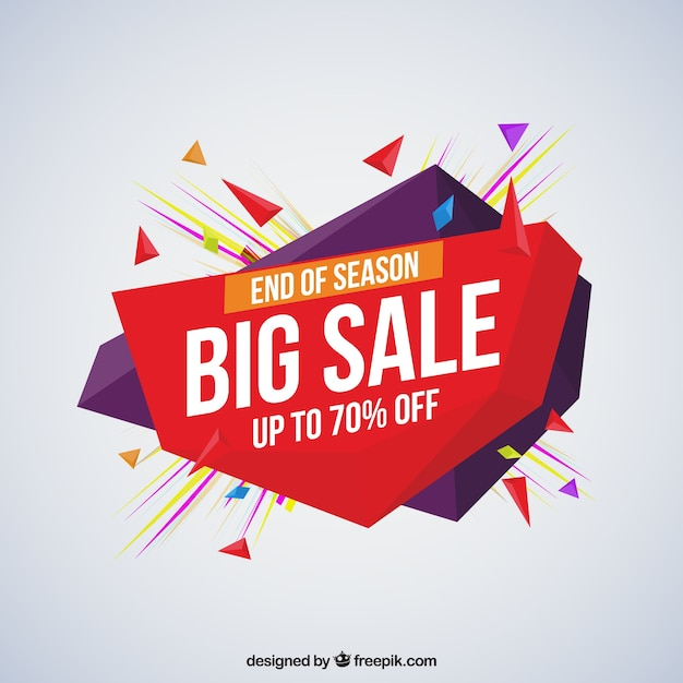 Sale composition with geometric shapes Free Vector