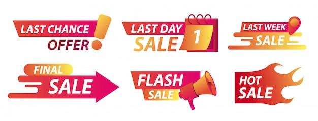 Sale countdown banner set Premium Vector