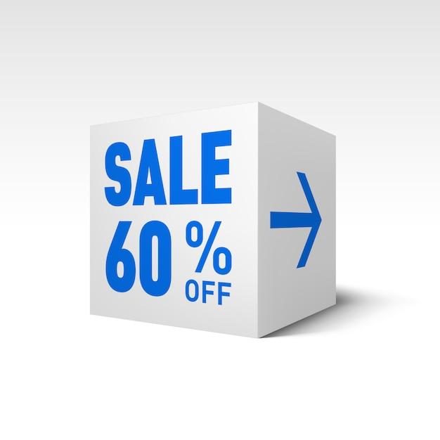 Sale cube Premium векторы