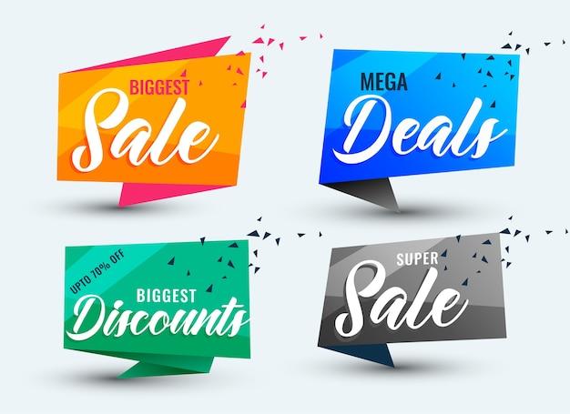 Insieme di modelli di sconti e offerte di vendita Vettore gratuito