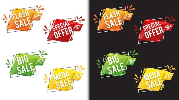 Скидка продажи баннеров Premium векторы