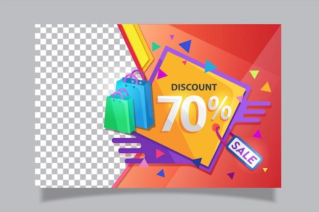 Sale discount banner Premium Vector