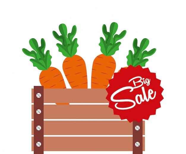 Sale of farm products Premium Vector