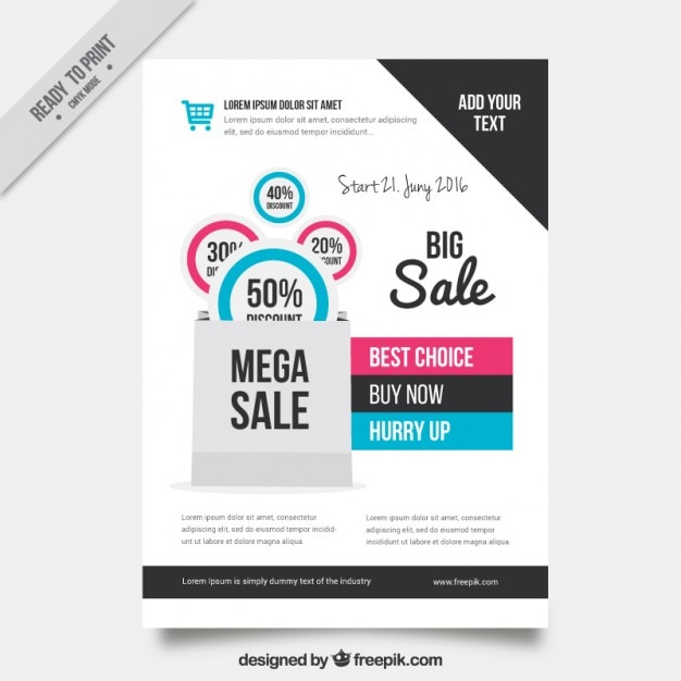 Sale flyer template Vector – For Sale Flyer Template Free