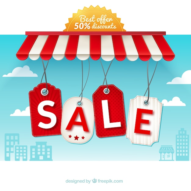 Sale hanging labels Free Vector