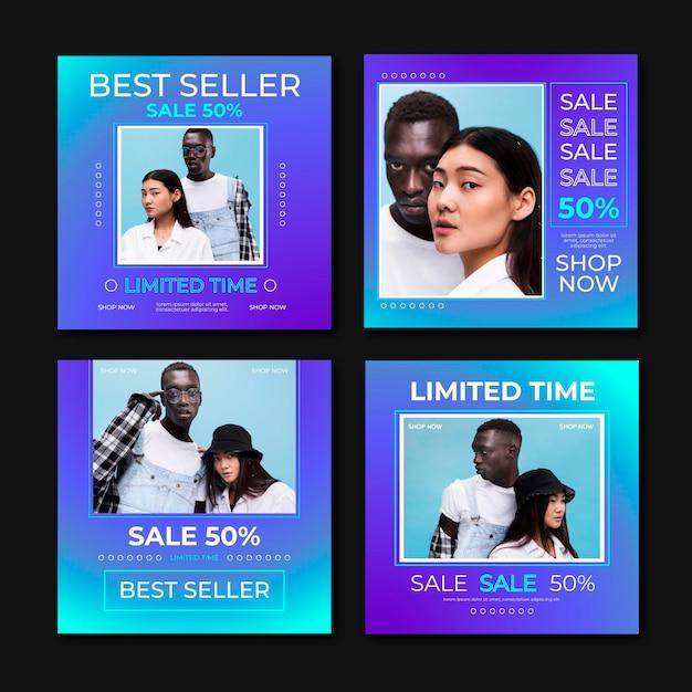 판매 instagram 게시물 무료 벡터