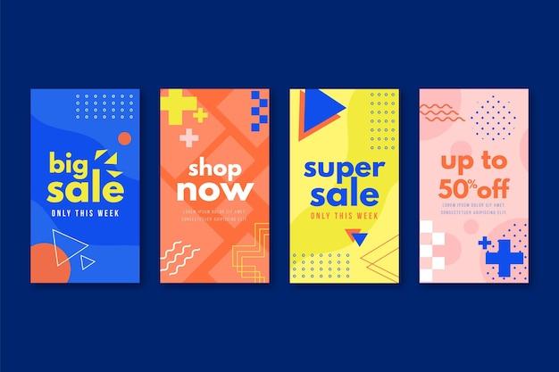 Sale instagram stories Free Vector