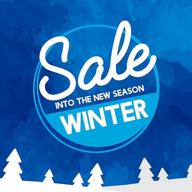 Sale into the new season vector Free Vector