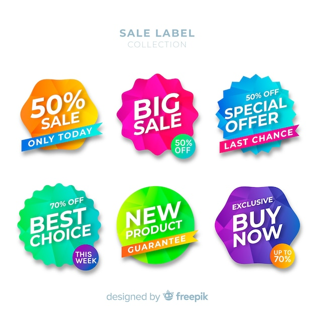 Sale label collection Free Vector