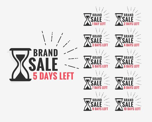 Sale label showing number of days left Free Vector
