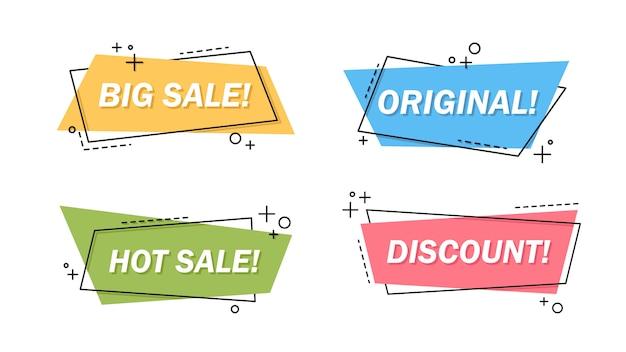 Sale letterings set Free Vector