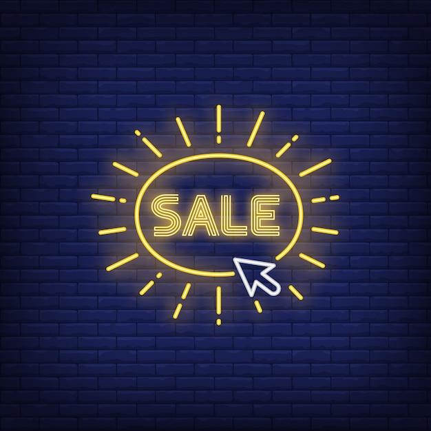 Sale neon sign Free Vector
