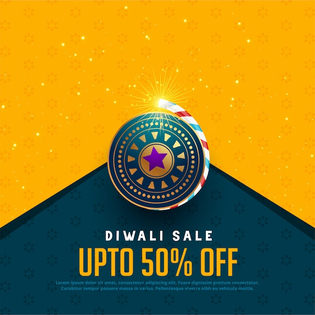 Sale and offer background for diwali festival Free Vector