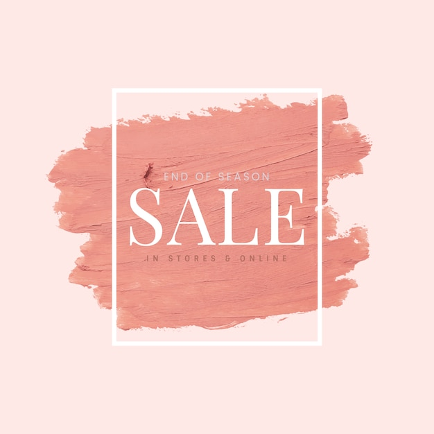 Sale pink brush stroke background Free Vector