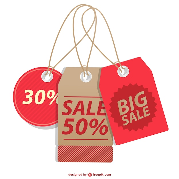Sale Price Tags Collection Vector  Free Download