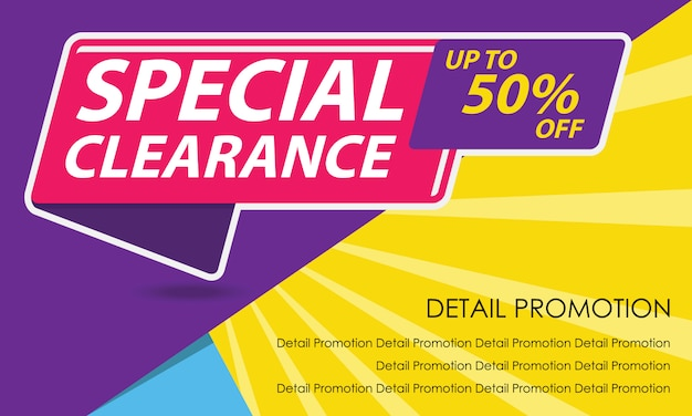 Sale promotion banner template Premium Vector